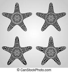 vecteur, étoile, collection