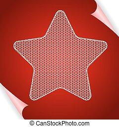 vecteur, étoile, dentelle, fond, noël