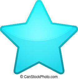 vecteur, étoile, glace