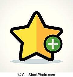 vecteur, étoile, illustration, icône