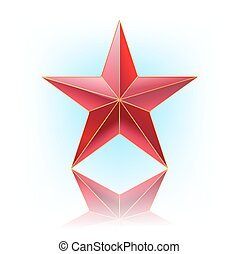 vecteur, étoile, illustration, rouges