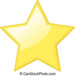 vecteur, étoile, jaune, icône
