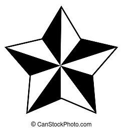 vecteur, étoile, retro