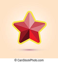 vecteur, étoile, rouges, illustration