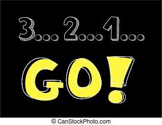 vecteur, 1, 3, 2, aller, countdown: