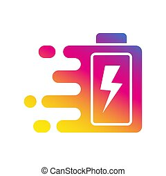 vecteur, 10., jeûne, eps, tonnerre, signe., rapide, charger, batterie, icône, illustration., logo., charge