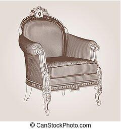 vecteur, 19, fauteuil
