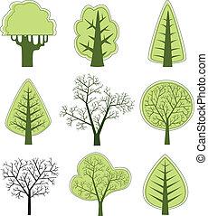 vecteur, 2, arbre
