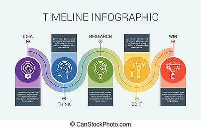 vecteur, 3, infographic, illustration