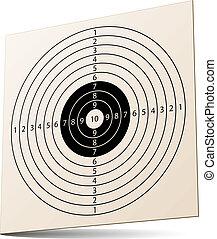vecteur, 3d, papier, cible fusil