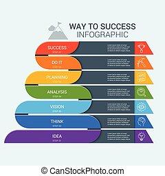 vecteur, 8, infographic, illustration