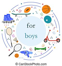 vecteur, activité, enfant, jeu, manière vivre saine, sport