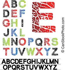 vecteur, alphabet