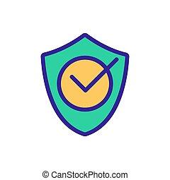 vecteur, anti-virus, illustration, confirmation, protection, icône, contour