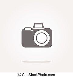 vecteur, appareil-photo enchaînement, icône