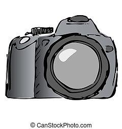 vecteur, appareil photo, encore