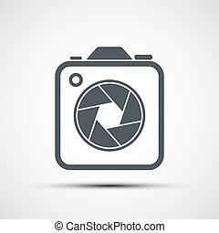 vecteur, appareil photo, icône