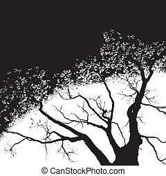 vecteur, arbre, fond