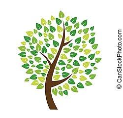 vecteur, arbre, illustration, icône