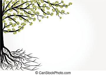 vecteur, arbre, symbole, vie, logo
