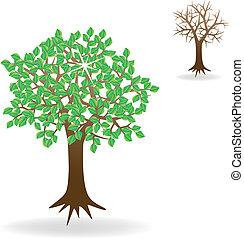 vecteur, arbres