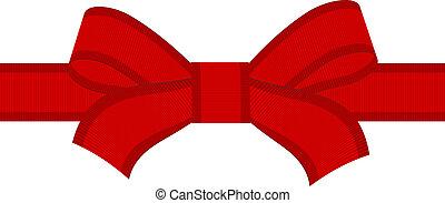 vecteur, arc rouge