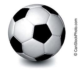 vecteur, arrière-plan., blanc, football, isolé