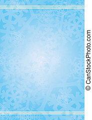 vecteur, arrière-plan bleu, à, snowfla