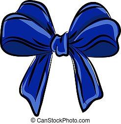 vecteur, arrière-plan., bleu, illustration, ruban, blanc