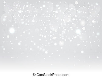 vecteur, arrière-plan., bokeh, eps10., neige