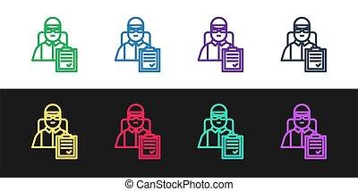 vecteur, arrière-plan., illustration, porte, livraison, ...