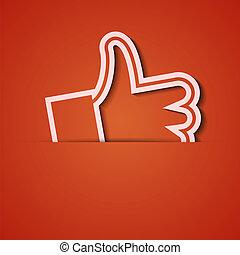 vecteur, arrière-plan., orange, icône, applique., eps10