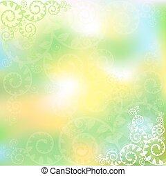 vecteur, arrière-plan vert