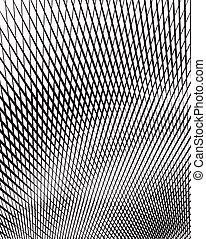 vecteur, art, optique, arrière-plan noir, blanc