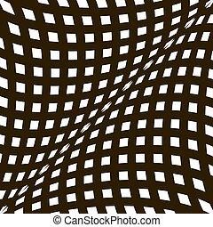 vecteur, art, optique, arrière-plan noir, illusion., blanc, op