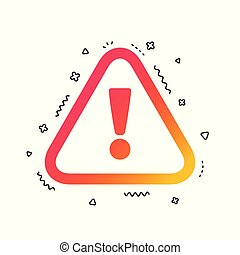 vecteur, attention, icon., mark., signe, exclamation