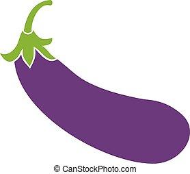 vecteur, aubergine, icône