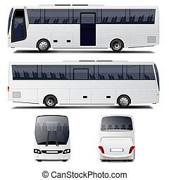 vecteur, autobus