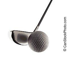 vecteur, balle golf