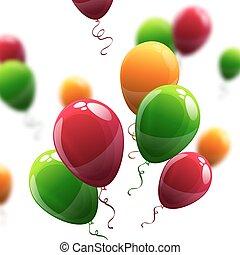 vecteur, ballons, illustration