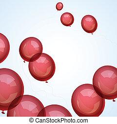 vecteur, ballons