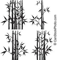 vecteur, bambou