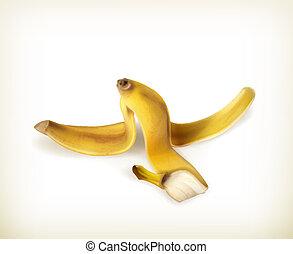 vecteur, banane pèle