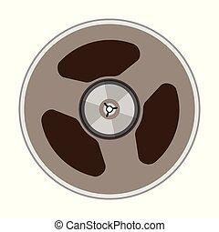 vecteur, bande, bobine, illustration