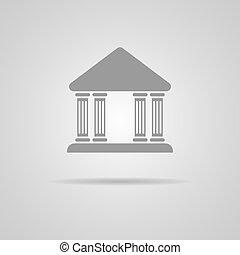 vecteur, banque, icône