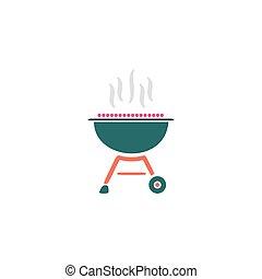 vecteur, barbecue, icône