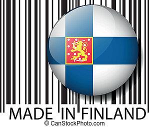 vecteur, barcode., fait, illustration, finlande