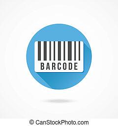 vecteur, barcode, icône