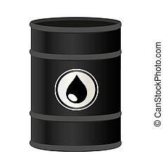 vecteur, baril, huile, illustration