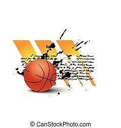 vecteur, basket-ball